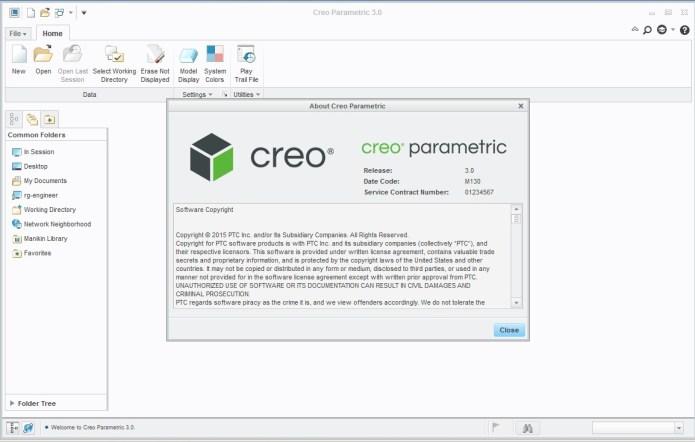 PTC Creo parametric 3.0 M130 32bit 64bit full crack