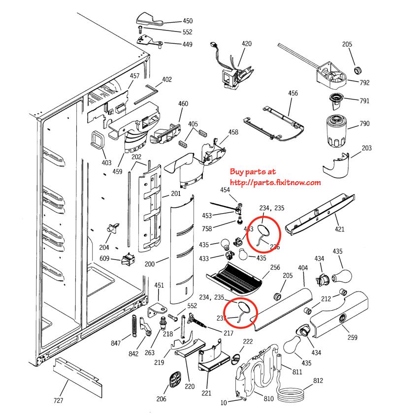 GE Profile and Arctica Refrigerator Thermistor Locations