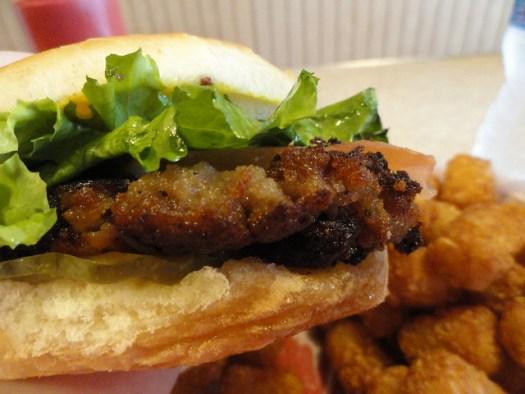 Doughburger from Latham's Hamburger Inn, New Albany MS
