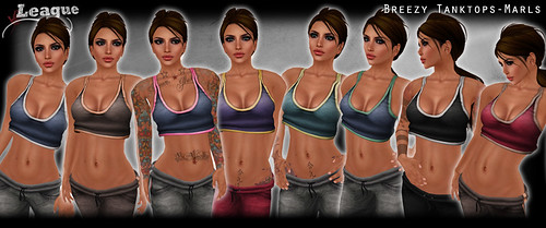 *League* Breezy TankTops -Marls