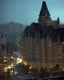 Storm Over Saskatoon - Bessborough Hotel