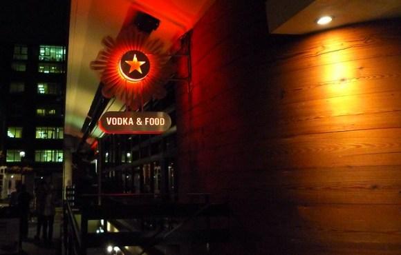 Vodka and food