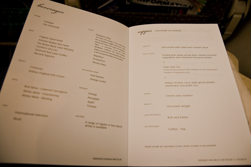 In-flight Menu - 2
