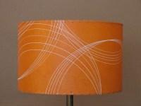 orange drum lamp shade | Orange lampshade: 15 inch ...