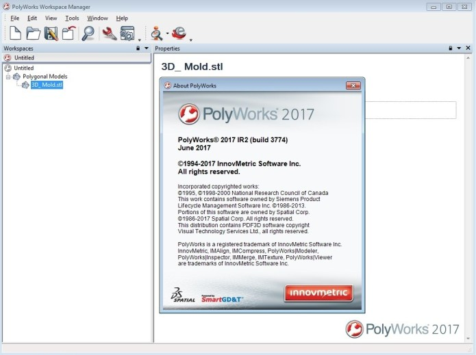 Informations of InnovMetric PolyWorks 2017 IR2 full