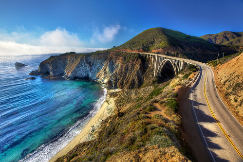 Bixby Bridge from Above - Highway 1, Big Sur, CA