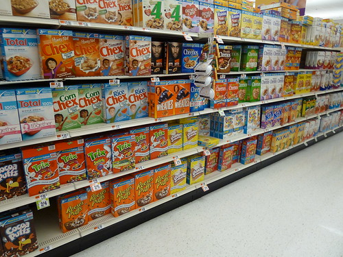 A small portion of the cereal aisle