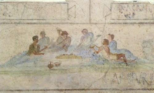 Ancient greek wine sceen