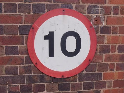 Gun Barrel Proof House, Banbury Street, Digbeth - 10 mph sign