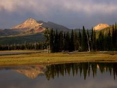 Sunlight on the Peaks by Nina
