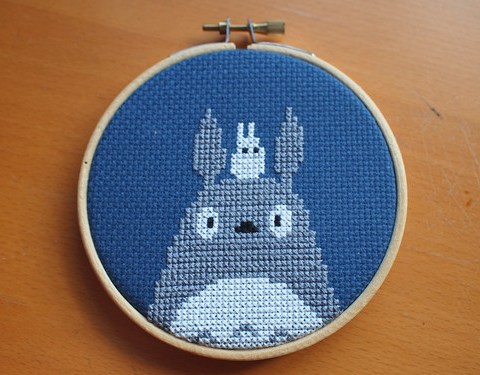 Totoro Cross Stitch