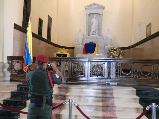 Simon Bolivars Tomb at National Pantheon in Caracas