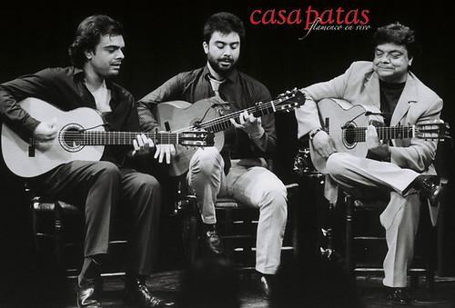 Leo, Jero y Felipe Maya en casa Patas. Foto: Martín Guerrero