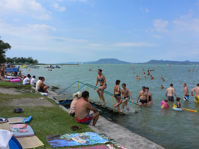 Wild Swimming in Hungary Lake Balaton