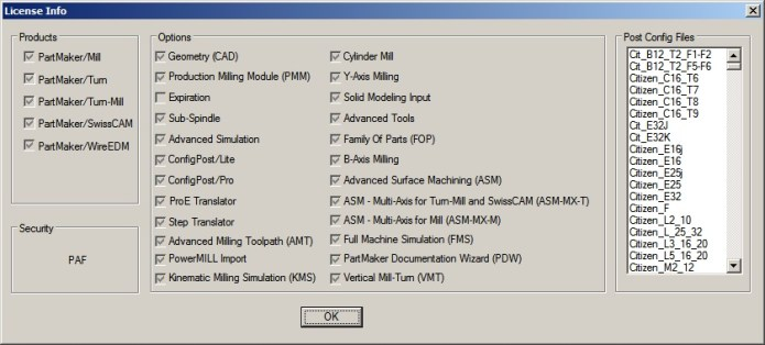 Delcam PartMaker 2016 R2 license