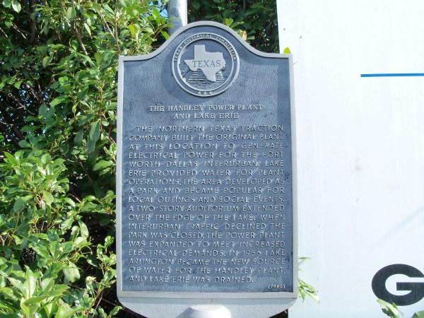 Handley Power Plant & Lake Erie Ft. Worth Texas Hist