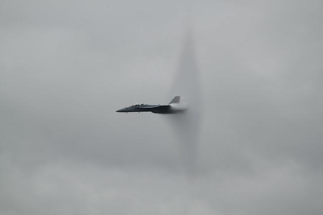 F-18A with Prandtl-Glauert Singularity