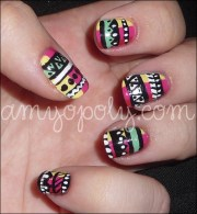 nail art aztec nails