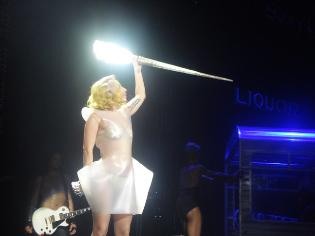 Lady Gaga and her disco stick  The MONSTER BALL 2010