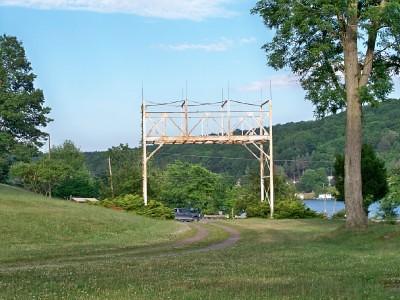 Roller Coaster Remains @ Hanson's Abandoned Amusement Park, Harvey's Lake, Pennsylvania
