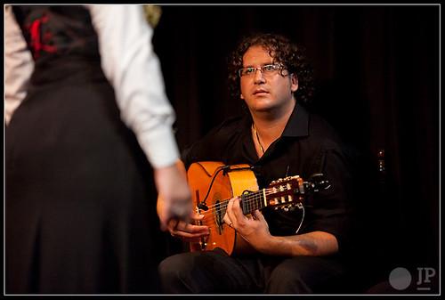 Isaac Muñoz, guitarrista inseparable de José Barrios. Foto: Juan Pelegrín para Casa Patas