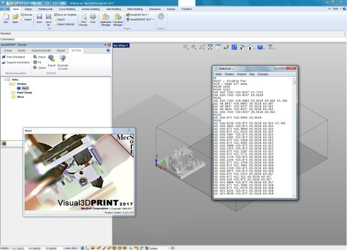 working with Visual3DPRINT 2017 v3.0.319 for Visual CADCAM 2017 full