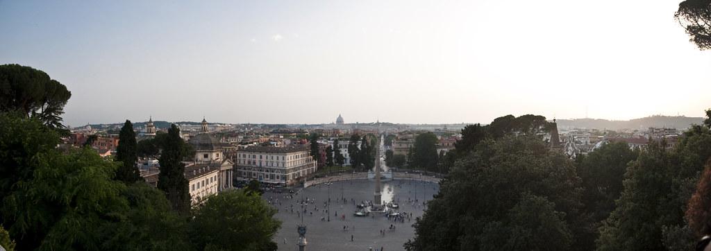 Panorama of Piazza del Popolo