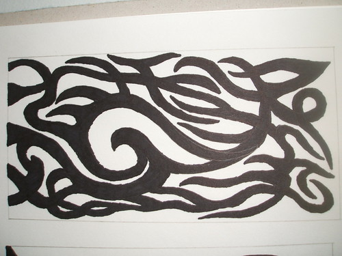 Tribal forearm sleeve (left arm)