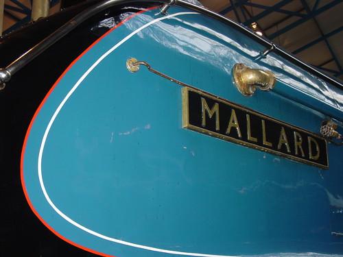 LNER 4468 Mallard name plate