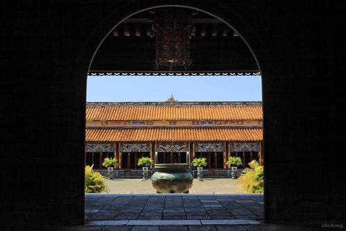 The Mieu Temple, ancient Hue citadel, Vietnam