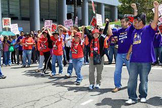 SEIU Janitors Protest Firing by JPMorgan Chase