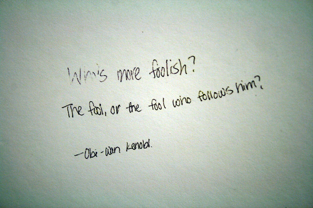 Foolish definition/meaning