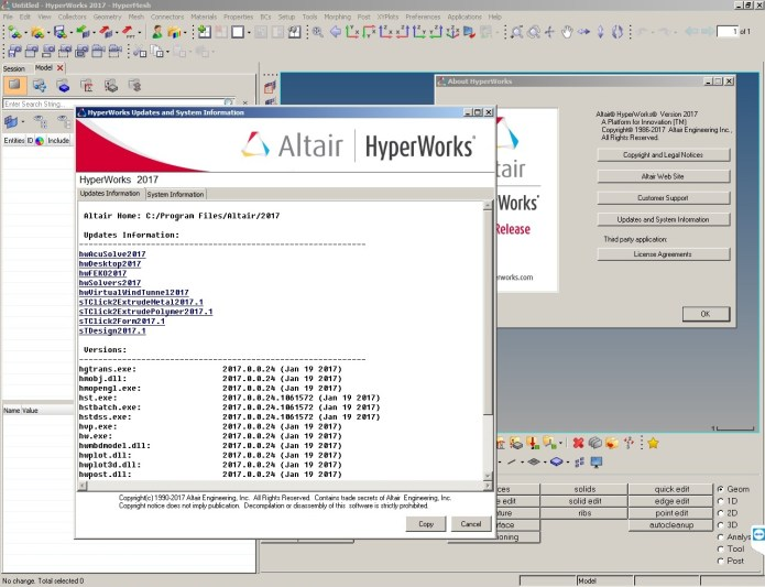 Working with Altair HyperWorks 2017.0.0.24 Suite full license