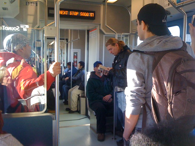 Crowded Link train on Sunday
