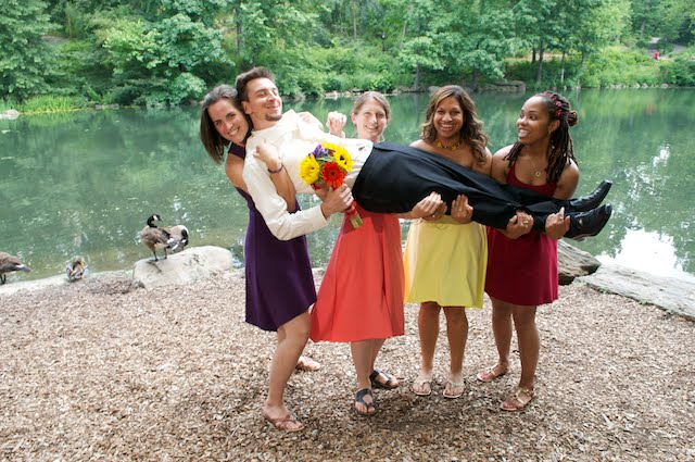 I have strong bridesmaids :)