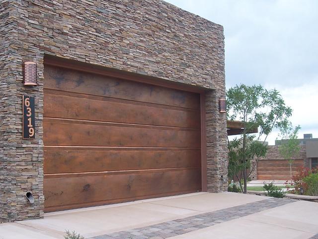 Garage Doors Flushline Copper  Copper GarageDoors by