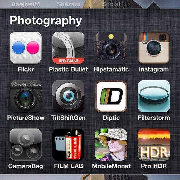 These are my camera apps.