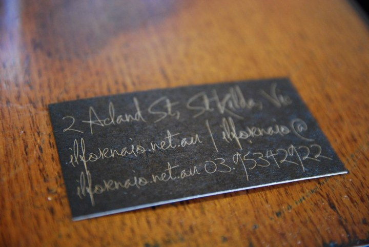 Business card details - Il Fornaio