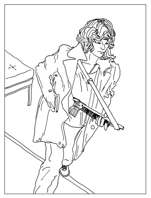 Bank Robber Coloring Pages