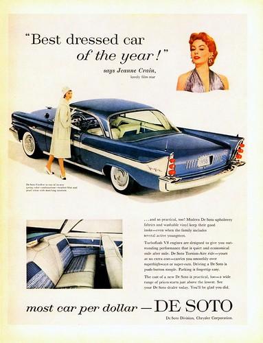 1958 DeSoto Fireflite 2-Door Hardtop with Jeanne Crain