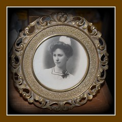"""Lovely old frame and photo, circa 1900, """"& Antiques"""""""