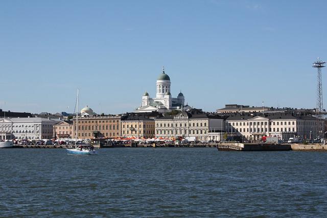 Helsinki seen from Suomenlinna