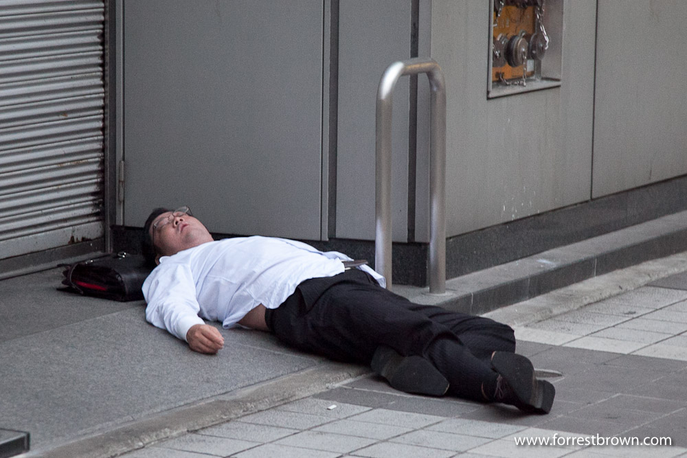 Japan Sleeping On The Street