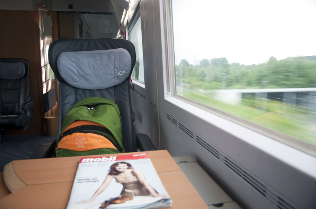 Aboard the InterCity Express (ICE) from Hamburg to Berlin