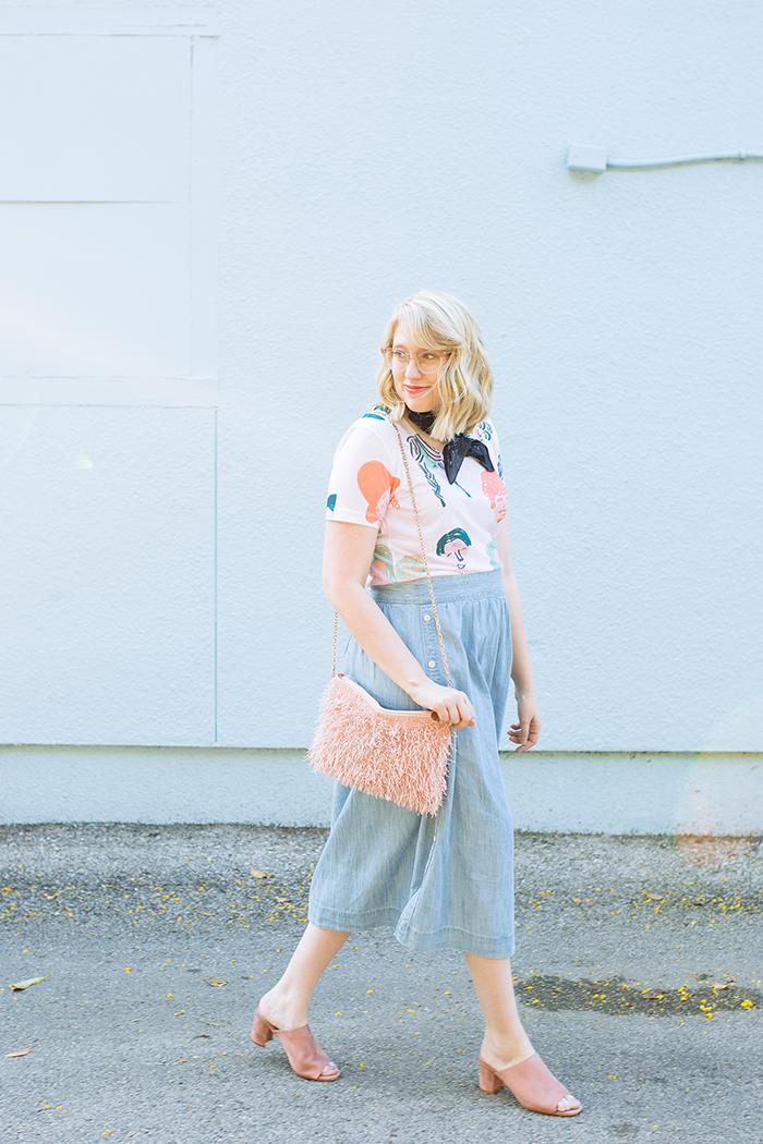 austin style blogger writes like a girl chambray madewell midi skirt8