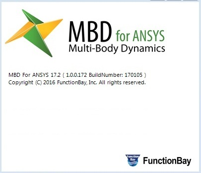 FunctionBay Multi-Body Dynamics for ANSYS 17.2 Win64