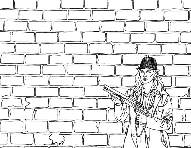 Coloring pages brick wall coloring page