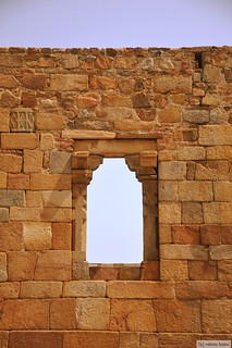 Broken walls near Qutub Minar