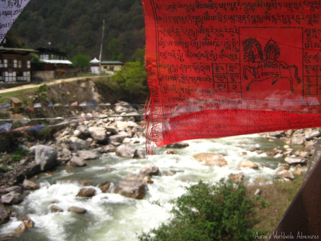 Prayer Flags and River