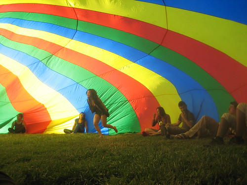 marcia looking cute in the parachute